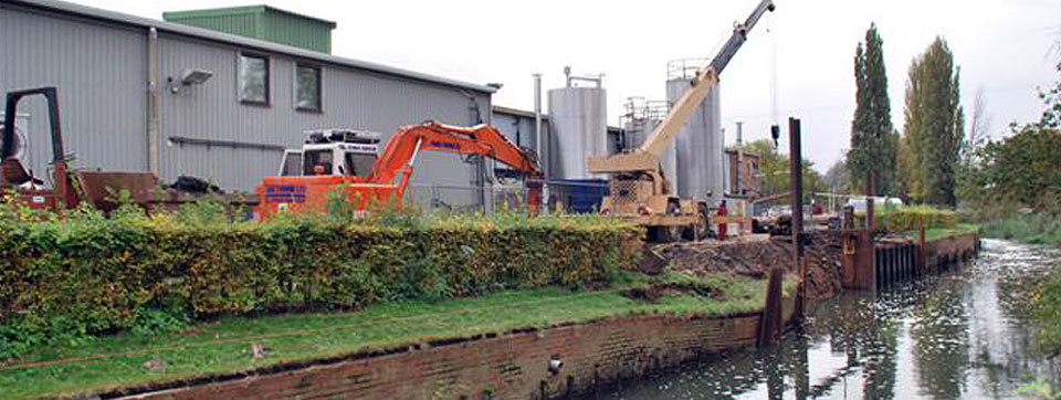 River Piling Contractors protecting river banks and moorings
