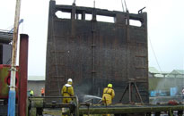 King's Lynn Lock Gate construction