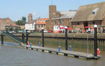 Floating pontoon construction by Drake Towage for visitors to King's Lynn in Norfolk